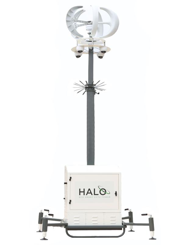 Halo CCTV Tower Wind Turbine
